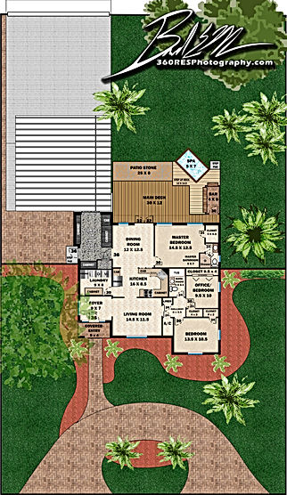 Site Plan Example - 360 Real Estate Services - Floor Plan Services Highlited Print Sample 2 - Sarasota & Bradenton, Florida