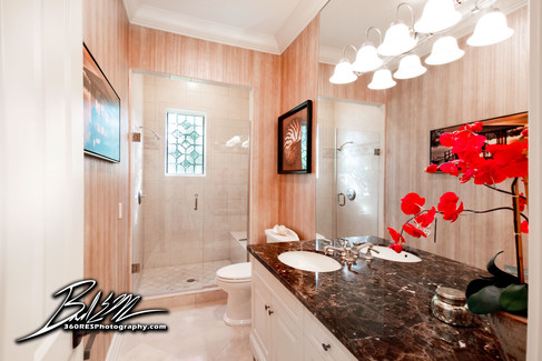 Siesta Key Luxury Home Bathroom - Real Estate Photography - Bradenton & Sarasota, Florida - 360 Real Estate Services, LLC