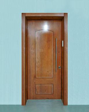 דלת עץ אלון דגם קשת