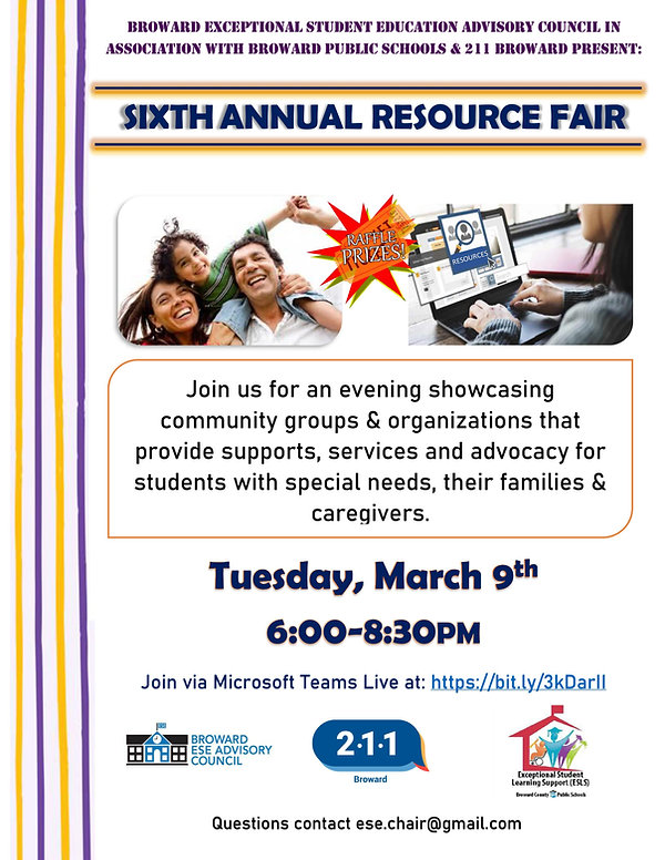 2021 Resource Fair Flyer
