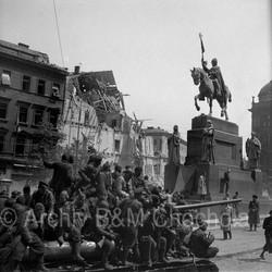 Václavské náměstí, Praha, 9. 5. 1945