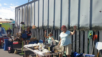 Happy vendors at our annual garage sale