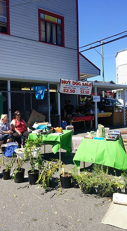 Vendors selling goods at our garage sale