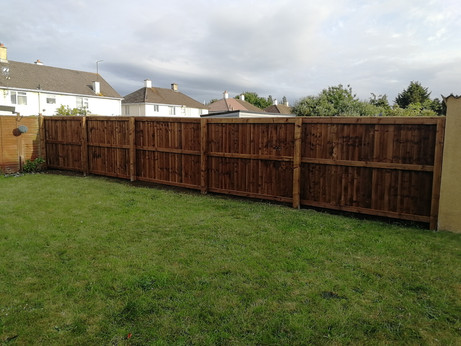 Closed boarded fence