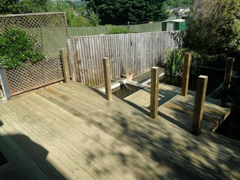 Bespoke timber decking