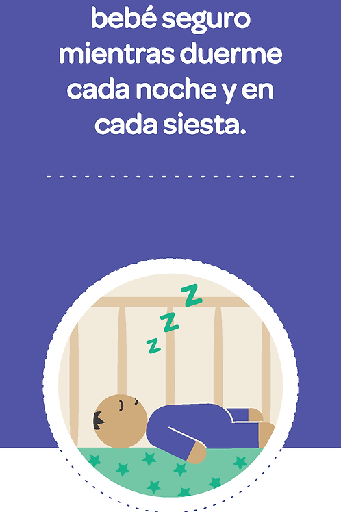 Safe Sleep Rack Card (Spanish)