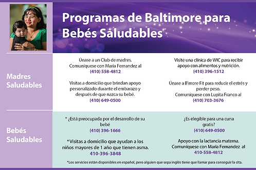 BHB Programs Rack Card (Spanish)