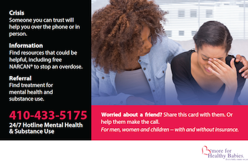 24/7 Crisis and Referral Hotline Flyer (English)
