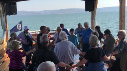 Fun dance on the Sea of Galilee