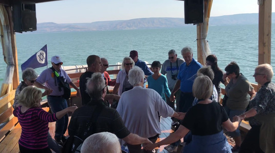 Fun dance on the Sea of Galilee
