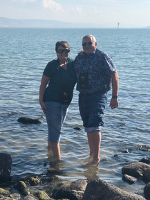 Sea of Galilee wading