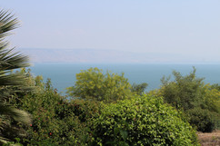 Sea of Galilee view from Mt. of Beatitudes