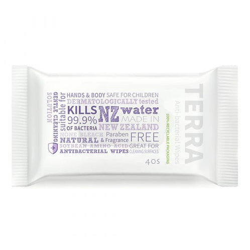 Terra Anti-bacterial Wipes 40s