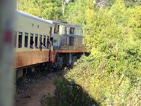 Поезд местного сообщения Тази - Шве Ньянг (Инле) . Мьянма. huatiaiasia.