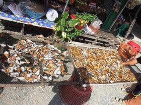 Сонгкла. Прилавок с сушеными морепродуктами