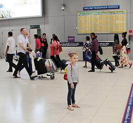 Настя в аэропорте Суварнабхуми в Бангкоке