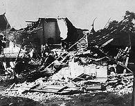 Бангкок после бомбежки в 1042 г.
