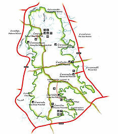 Схема Национального парка Кхао Луанг