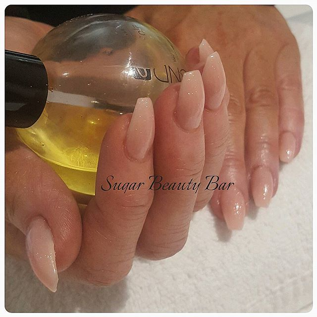 Side view of ballerina acrylics #acrylics #ballerinanails #ballerina