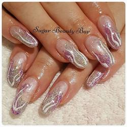 Glitter mix nail art #shellac #glitter #nailart
