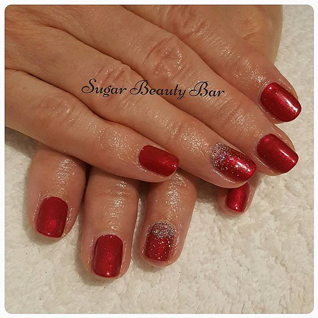 Shellac Tartan Punk and glitter design #shellac #glitter #tartanpunk