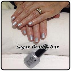 Shellac in Silver Crome #sugarbeautybar #shellac #chrome