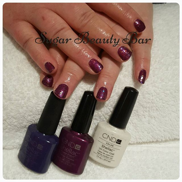 Shellac layered Rock Royalty, Tango Passion and Zillionaire