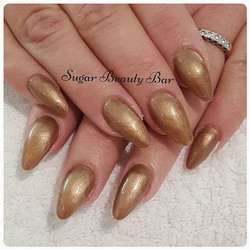 Acrylic infills with Shellac Sugared Spice #acrylics #shellac