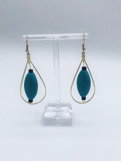 Golden Turquoise tear loop