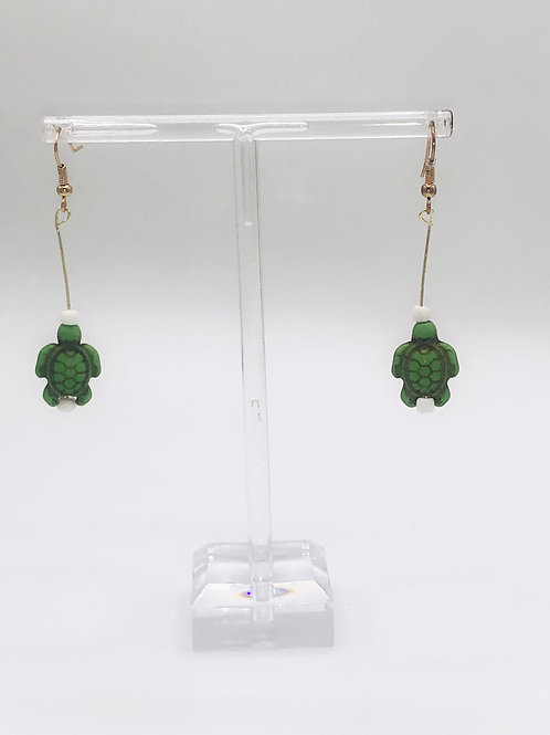 Dangling Sea Turtles Green
