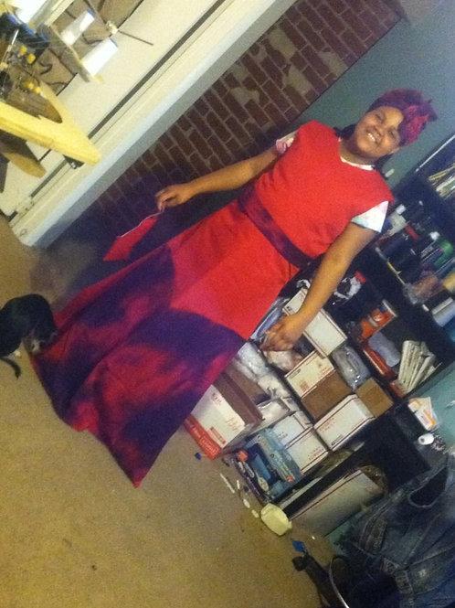 Formal Dress w/belt & Head-wrap