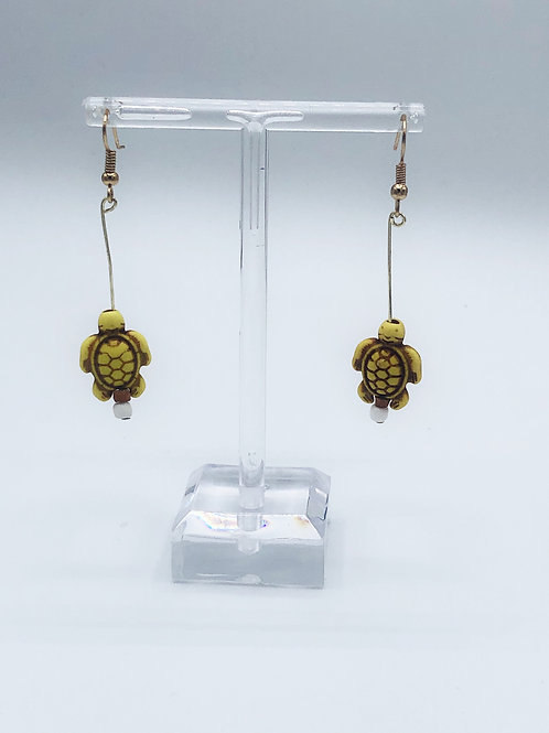 Dangling Sea Turtles Yellow