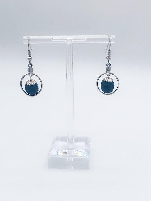 Single Turquoise wood beads