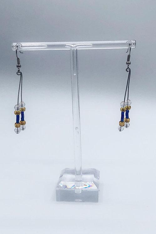 Double Dangle Glass Beads