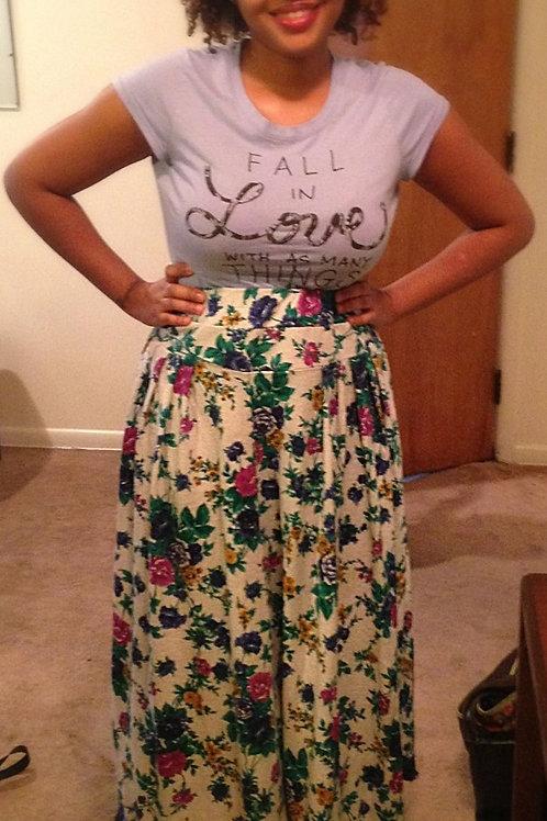 Two tier, elastic waist 3/4 Circle Skirt