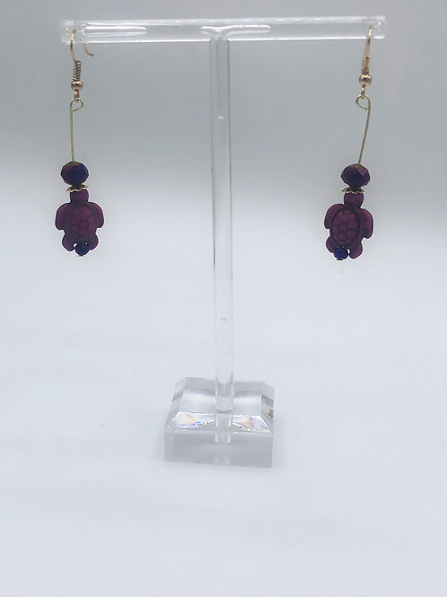 Dangling Sea Turtles Purple