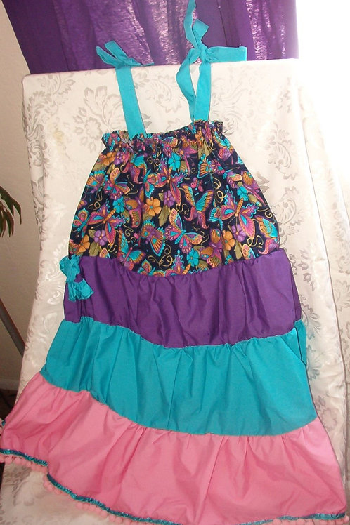 Multi-tiered summer dress with ties