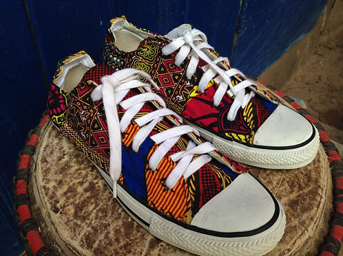 African Fabric Print Shoes