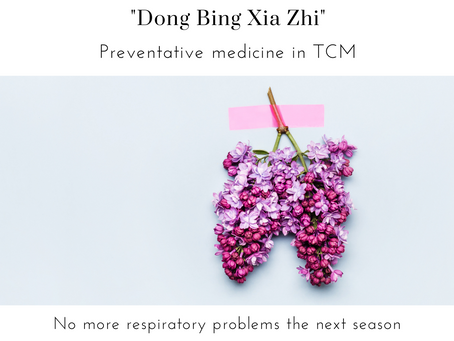 Preventative Treatment for Hayfever and Asthma using 'Dong Bing Xia Zhi'