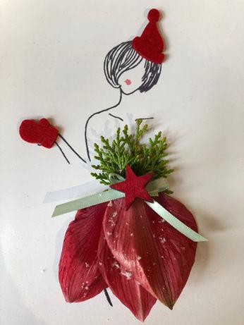 La Petite fleuriste habillée pour Noël