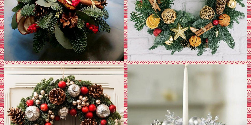Рождественский венок/Новогодняя икебана (на выбор)