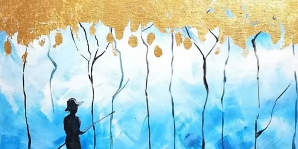 Тай Рай: акрил с золотой поталью (арт-дегустация)