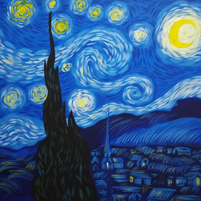 """Art&Learn (образовательная арт-вечеринка): """"Ван Гог. Звездная ночь"""" (г.Жуковский)"""