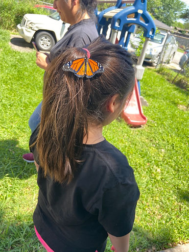 Rita with Monarch Butterfly on her hair
