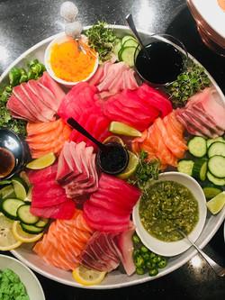 sushi, sashimi, crudos, & tartares avail