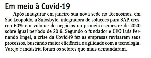 Coluna Observador do Jornal do Comércio (16/08/2020)