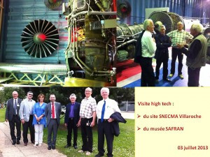le 03/07/2013, l'A.M.E. invitée la SNECMA