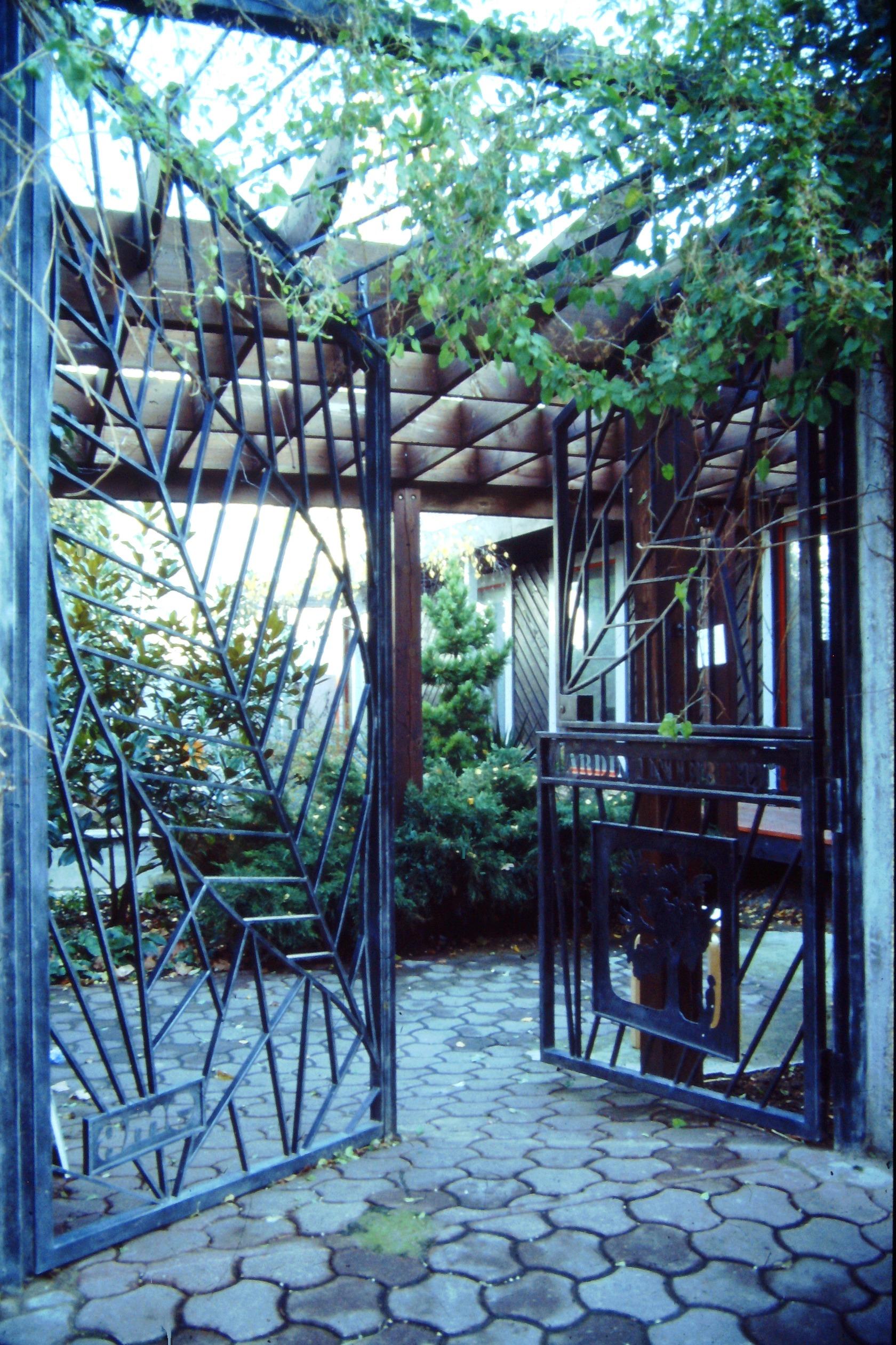 La grille du Jardin Intérieur - 1985