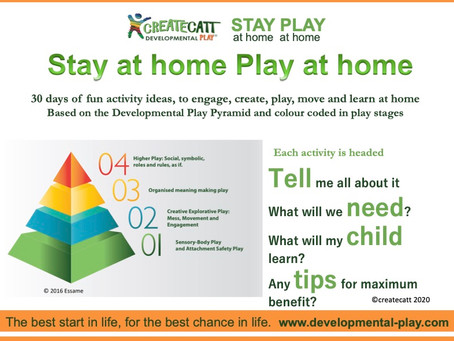 Stay at Home, Play at Home. Harness the power of play