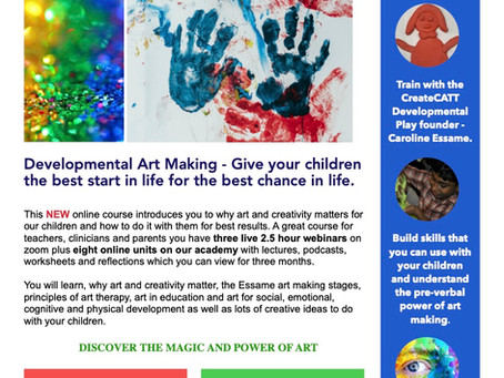 First Developmental Art Making course by CreateCATT launches April 2021 - sign up now!